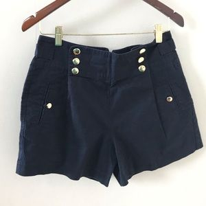 [French Connection] High Waisted Military Shorts